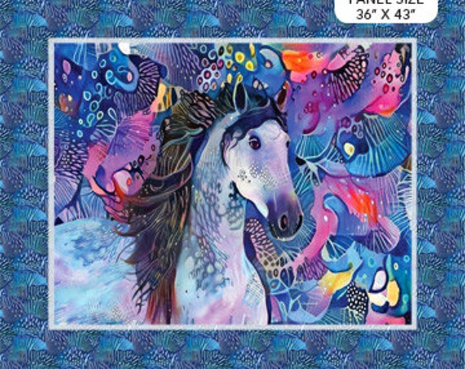 """New - Northcott - Muse - Abstract Horse - Horse Panel -  Horse - Panel -DP23195 -36""""x43"""" -  Sold by Panel"""