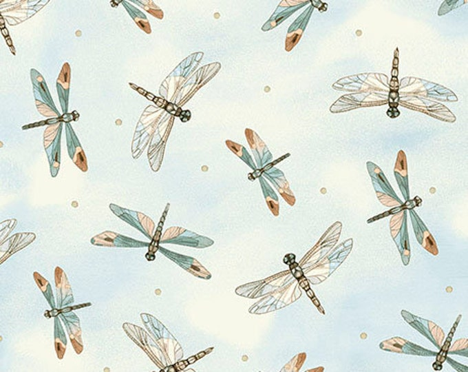 Quilting Treasures - Tranquility -  26392BE - Dragonflies - Dragonfly - Dragonfly fabric -  Sold by the yard