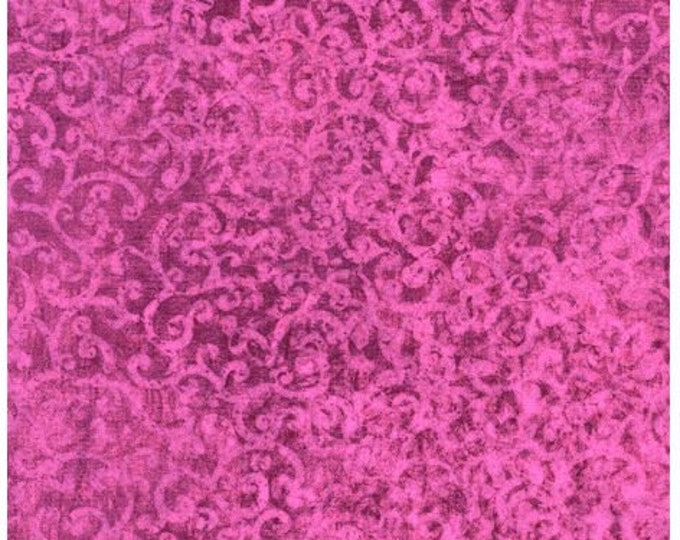 Quilting Treasures - Scrollscapes II - 24362 D -  Wild Rose- Tone on Tone - Fabric - Sold by the Yard