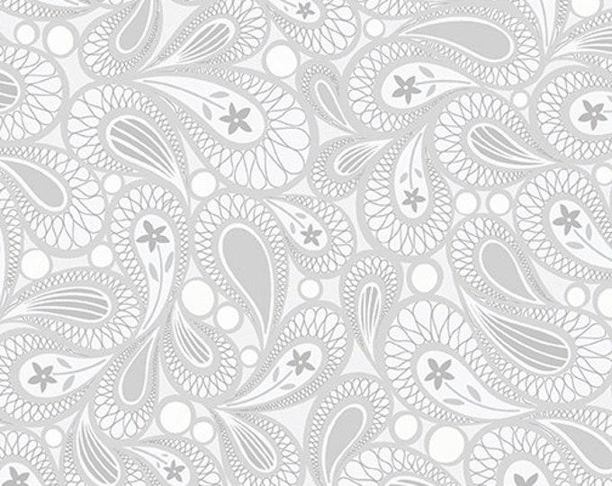 Benartex - Contempo - Free Motion Fantasy - by Amanda Murphy - Paisley - Gray - 5445-08 - Sold by the Yard