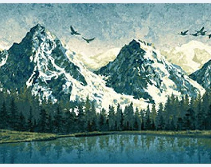 Northcott -Stonehenge - Mountain Wilderness - Panel - 39378 46 - Sold by the Panel
