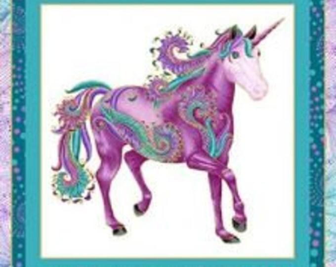 Benartex - I Believe in Unicorns  - Panel  - Unicorn - Metallic - Unicorn Panel - Panel - White/Multi Panel -  10390M09- Sold by the Panel