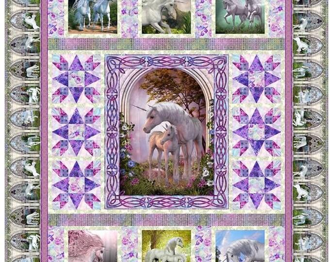 In the Beginning Fabrics - Unicorn - Quilt Pattern - Unicorn Quilt Pattern -  Sold by the Pattern