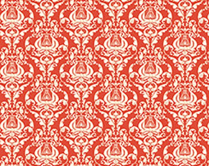 Quilting Treasures - Angle Band - Damask - Red - 23525R - Sold by the Yard