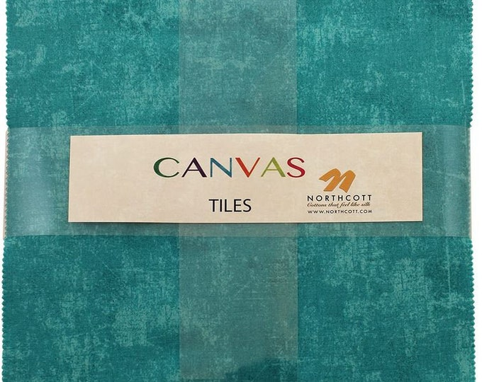 Northcott - Canvas - Tile/Layercake - 42 Ten Inch Squares - Layer Cake -  FREE SHIPPING - Sold by the Layer Cake