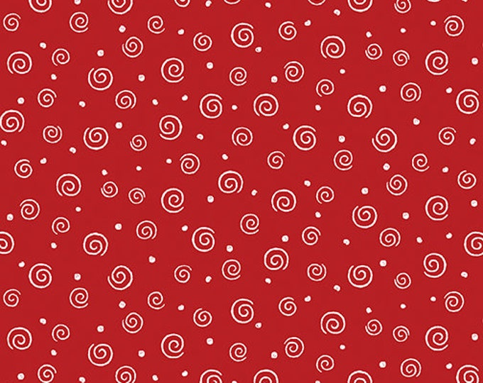 Benartex - Swirl Glow  - Red - 8920GL10B  - Sold by the Yard