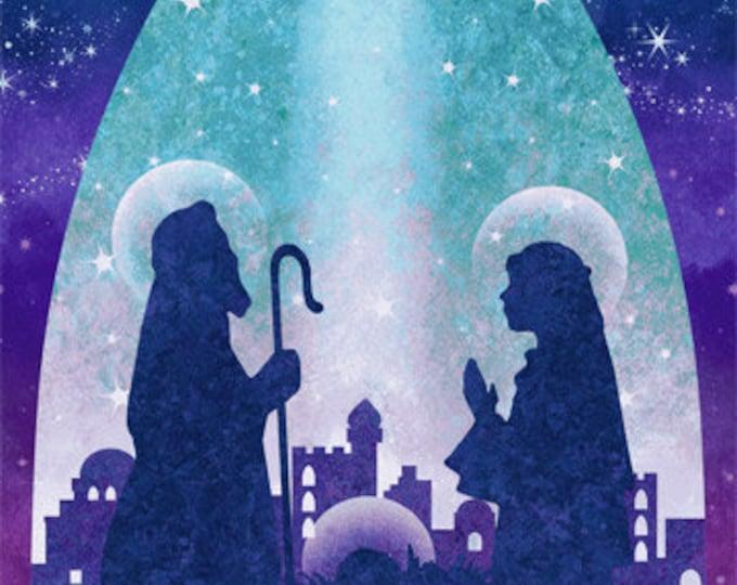 Northcott -Stonehenge - Joy to the World - Panel - Nativity Panel - Christmas Panel -  39391-68 - Sold by the Panel
