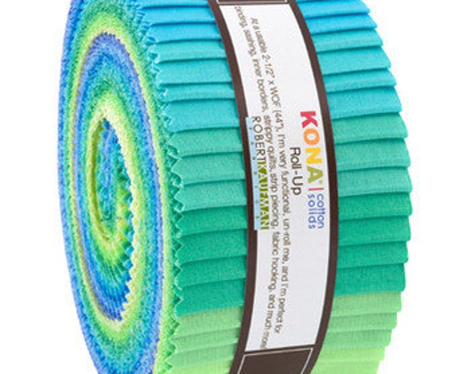 Robert Kaufman - Kona - Mermaid Shores -  Jelly Roll - 40 (2.5 Inch Strips)