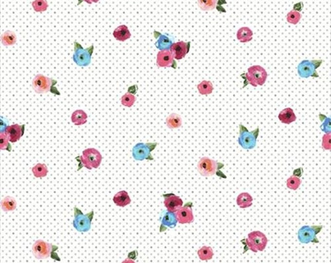 Quilting Treasures - Sweet Caroline - Small Floral -  Floral Fabric - Multi - 26988-Z -  Sold by the Yard