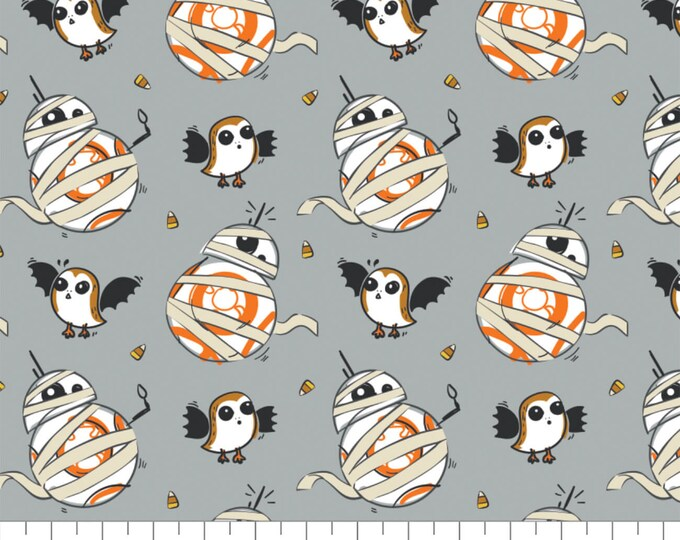 Camelot - Star Wars - Starwars Halloween Toss -BB8 Mummy & Porg - 73010981 - Star Wars Halloween Fabric - Sold by the Yard
