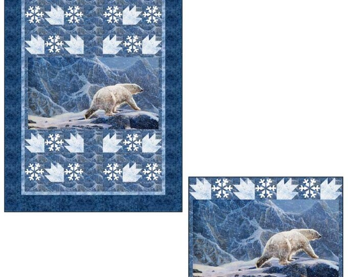 Northcott - Northern Solitude - Snowy Polar Bear Kit  - Polar Bear - Quilt Kit