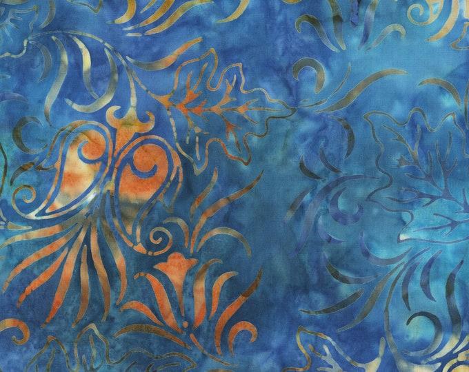 Anthology - Batik - Floral  - Blue Flower  - Venus - 262Q-3 - Batik - Sold by the yard