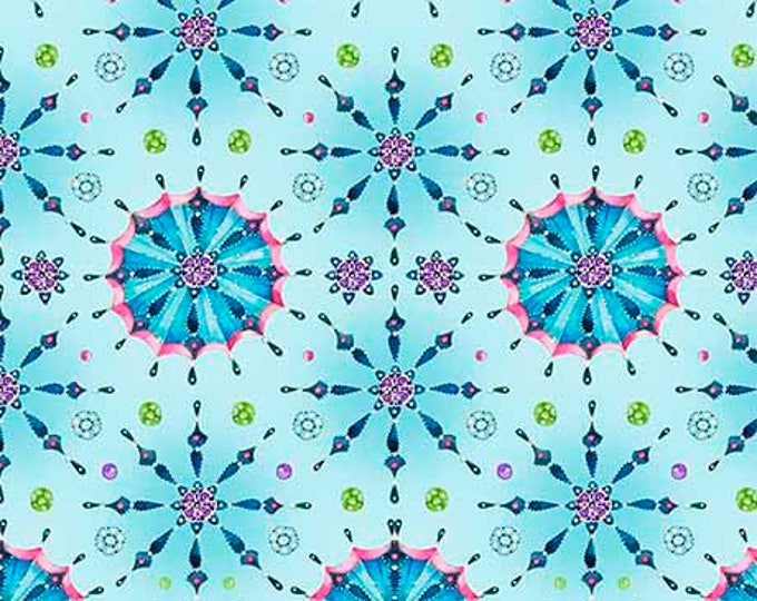 Quilting Treasures - Fanfare - 26062 Q -  Teal - Jewel tone - Fabric - Sold by the Yard
