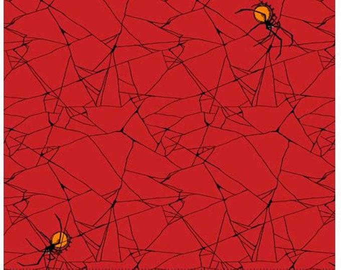 Quilting Treasures - Steampunk Halloween - Spiderweb - Red - Steam Punk  - 27773R - Sold by the Yard