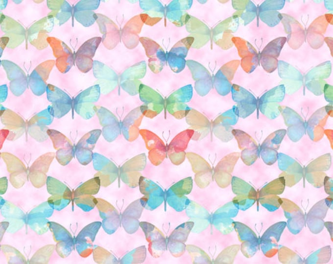 Blank Quilting - Papillon Parade - Butterfly - Pink - 9367-22 - Sold by the Yard