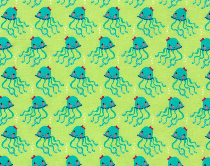Timeless Treasures - Green Octopi - Octopus fabric - Octopus - Fabric by the Yard