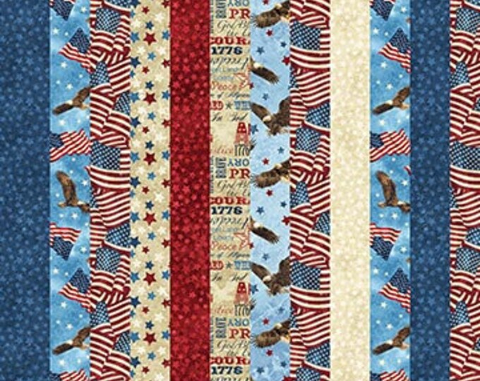 Northcott - Stars and Stripes VII - Stonehenge -  DP  39437-30  - Stripe Fabric- Valor - Sold by the Yard