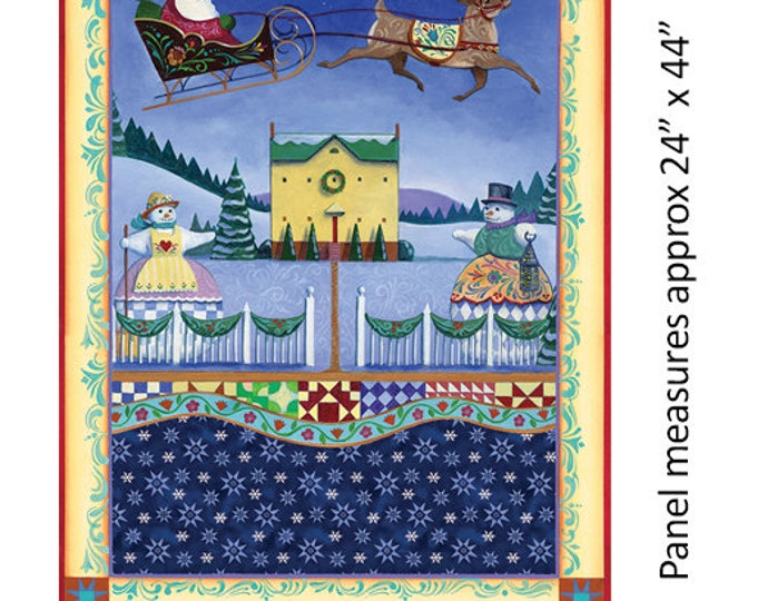 Benartex - A Quilter's Christmas  - Village Scene Panel   -  Panel - Multi -  06653-99 - Sold by the Panel