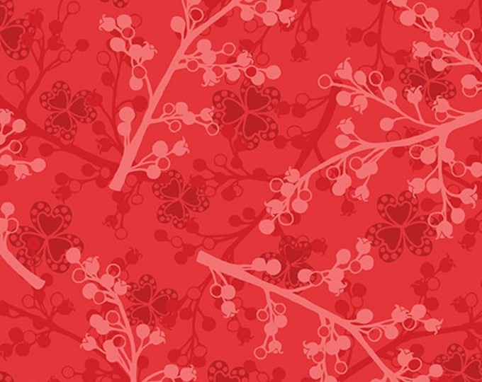Benartex - Jubilee - Red Berries - Amanda Murphy  -  5497-10 - Sold by thy Yard