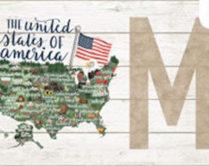 "Northcott - My Home State - United States Panel - US Panel  - DP23182-10 -USA Panel - 18""x43""-  Sold by the Panel"
