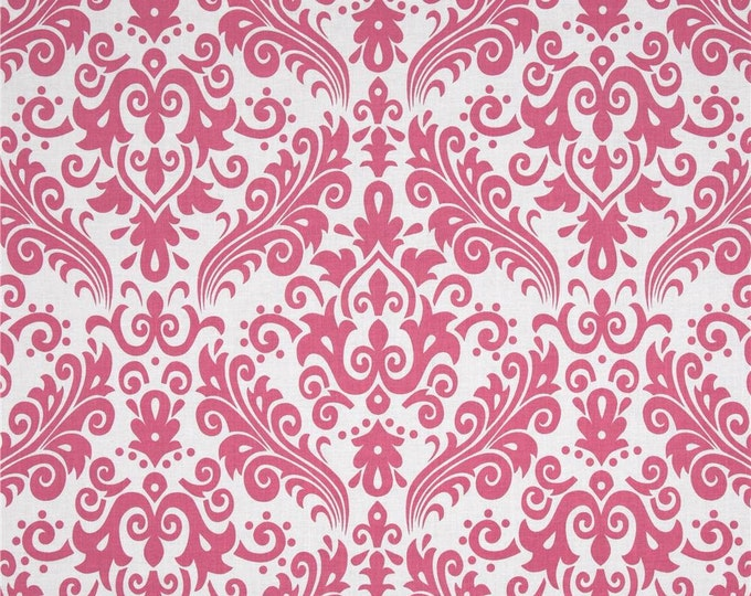 Riley Blake - Large Damask - Pink on White