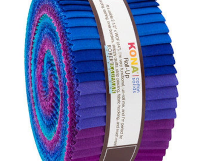 Robert Kaufman - Kona - Peacock -  Jelly Roll - 40 (2.5 Inch Strips)