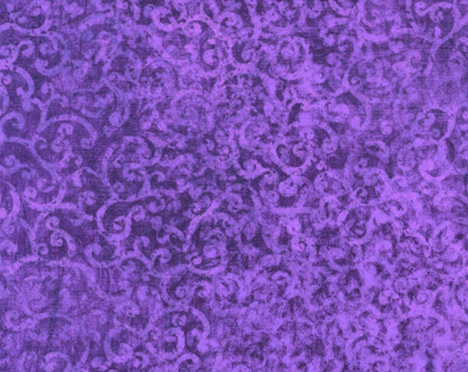 Quilting Treasures - Scrollscapes II - 24362 V -  Crocus - Tone on Tone - Fabric - Sold by the Yard