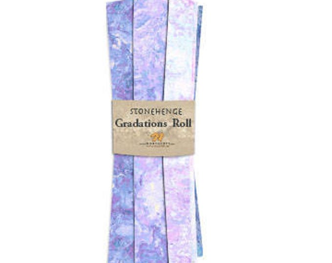 Northcott - Stonehenge - Mystic - Twillight - Blue and Purple - Fat Quarter Roll