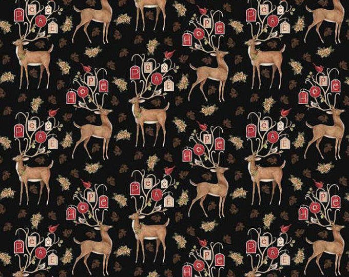 Spring Creative - Peace Reindeer  - All over Pattern - Sold by the Yard