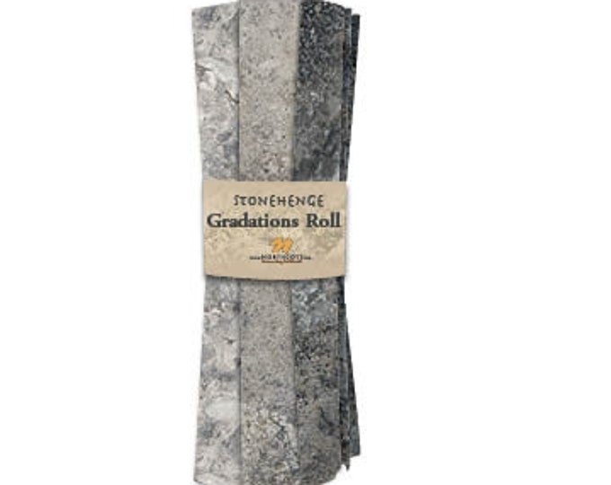 Northcott - Stonehenge - Graphite - Black  - Fat Quarter Roll - 8 Fat Quarters per pack