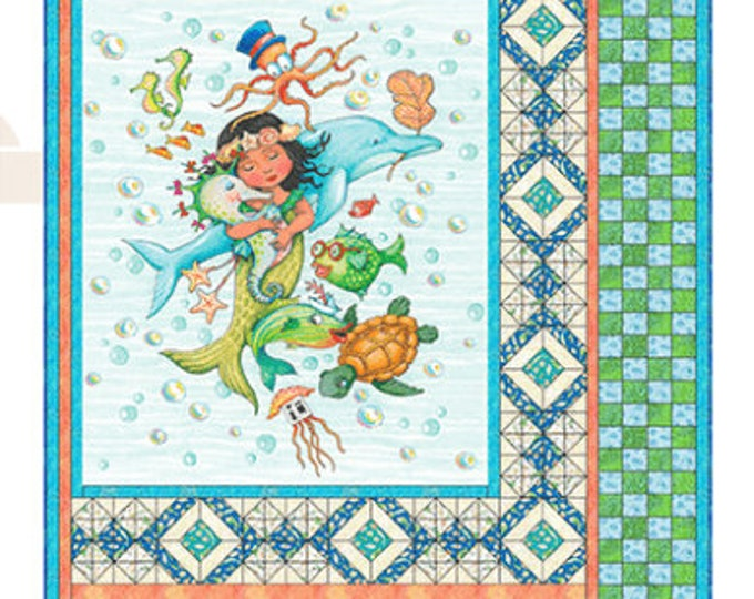 "Quilting Treasures - Mermaid Merriment - Kit - 54"" x 62"" Quilt -  Sold by the Kit - 26520B"