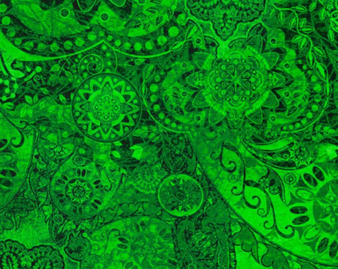 Quilting Treasures - Bohemian Rhapsody - Ombre - 26956G -  Green River  - Fabric - Sold by the Yard