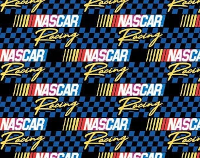 Camelot - Nascar - Retro Nascar - Retro Racing  - Checkered Flag - Blue - 39190107-02 - Sold by the Yard