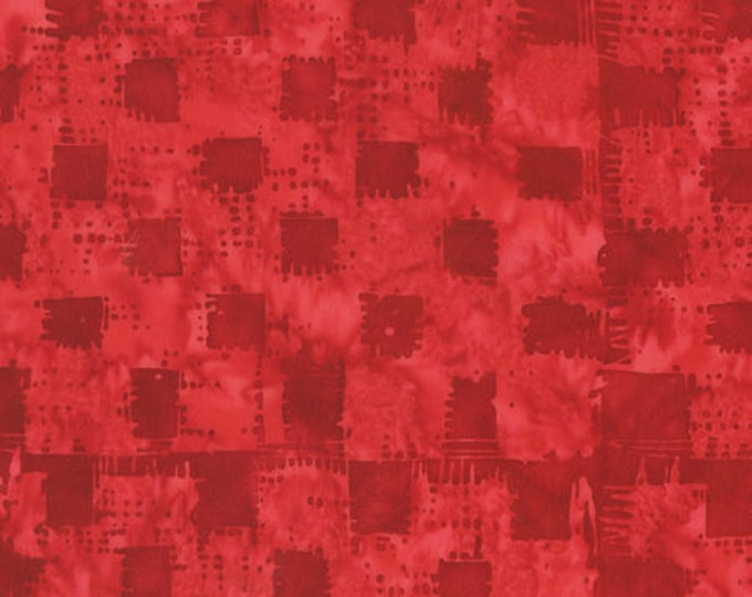 Anthology - Batik - Red Heart Gingham - 272Q-3 -  Sold by the yard