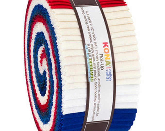 Robert Kaufman - Kona - Patriotic -  Jelly Roll - 40 (2.5 Inch Strips)