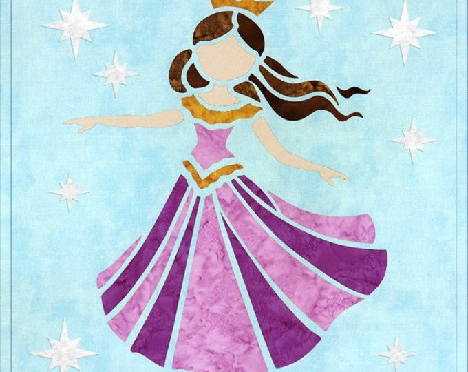 "Sew Enchanted - Princess - Pre-cut/fused Kit - 15""x15"" - Precut/Fused Applique Kit - precut kit -  Sold by the Kit"