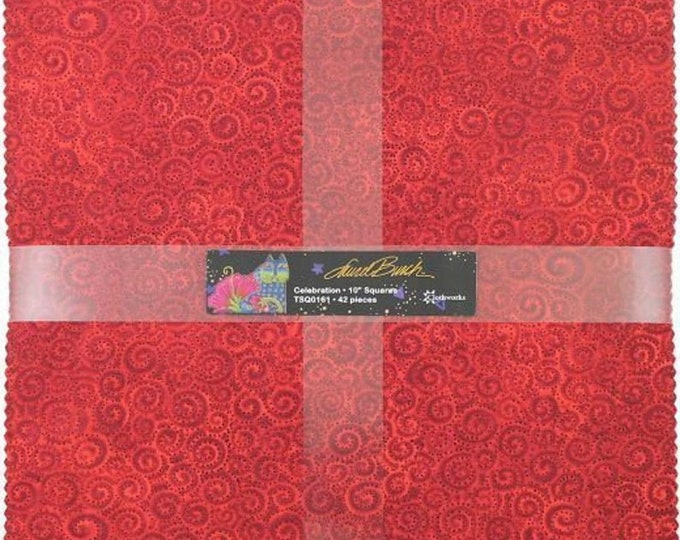 Laurel Burch - Celebration Basics - Layer Cake - 42 Metallic 10 inch squares - Sold by the Layer Cake