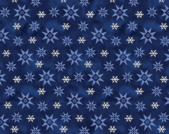 Benartex - A Quilter's Christmas  - Winter Snowflake   - Dark Blue -  06648-55  - Sold by the Yard