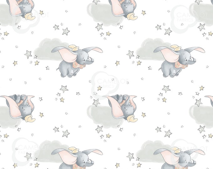 """Camelot - Baby Dumbo - Fabric - approx 36""""x44"""" - Disney Sentimental Collection - Disney fabric - Sold by the Yard"""
