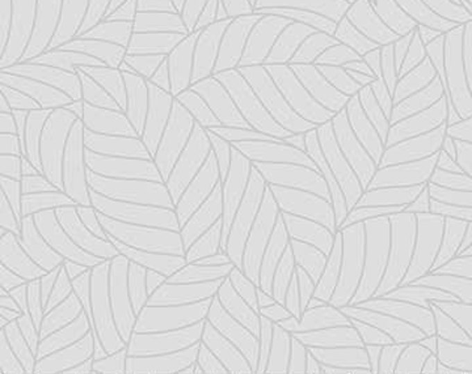 Northcott - Simply Neutral - Grey -  22140-92  - Neutral - Tone on Tone -  Gray on Gray - Grey on Grey - Leaves -  Sold by the Yard