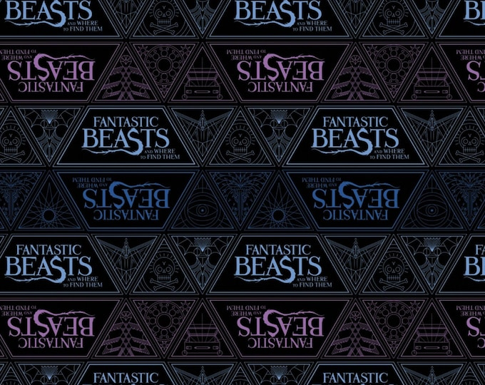 Camelot - Harry Potter - Wizarding World - Fantastic Beasts & Where to Find Them - Fabric - Sold by the Yard