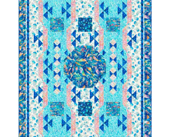 "Quilting Treasures - Ocean Paradise - Quilt Pattern - 1775 - Pattern only - 60"" x 72.75"" -  Actual Paper Pattern"