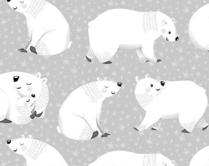 Northcott - Polar Hugs - Polar Bear - All over Polar Bear Print - 22237-92 - By Deborah Edwards -  Sold by the Yard