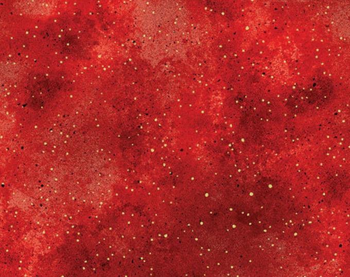Kanvas for Benartex - New Hue - Metallic -  Red - 8673M10B - Gold Metallic -  Sold by the Yard