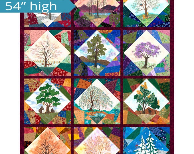 "Quilting Treasures - His Majesty - The Tree - Tree Panel - Tree -Seasonal Tree - 27559X - 43""x54"" - Sold by the Panel"