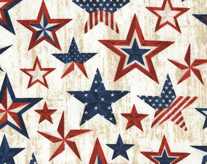 Timeless Treasures  - Americana Stars -  Patriotic Stars - Patriotic Fabric - USA Fabric - USA - C5279 - Sold by the Yard