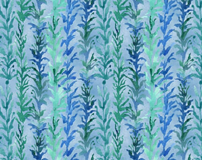 Blank Quilting - Sea Glass - Tonal Seaweed - Light Blue - Seaweed fabric - 9554-11 - Sold by the yard