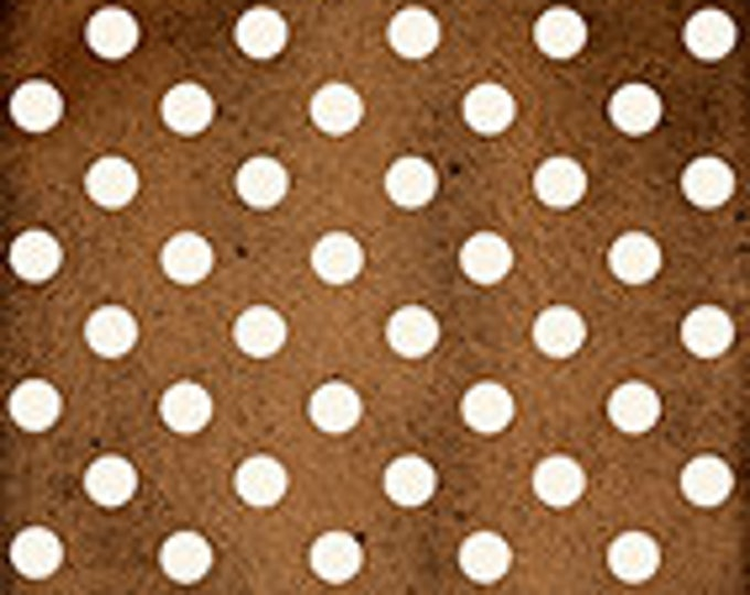 Quilting Treasures - Daily Grind -  Dots - Brown/White - White Dots on Brown background  - 21679A - Sold by the Yard