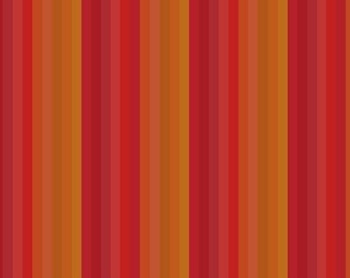 Marcus Fabrics - Get to Know Hue - by Nancy Rink - Stripe - Hue - Orange Strip - Red/Orange - 9710-0111 - Fabric by the Yard