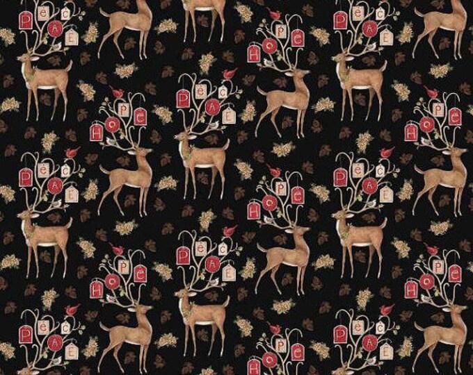 Spring Creative - Peace Scene - Peace Deer - Deer - Sold by the yard